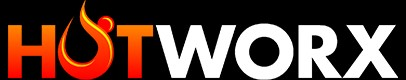 HotWorx logo black background